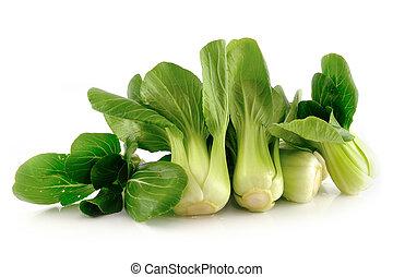 (chinese, freigestellt, bok, cabbage), choy, weißes