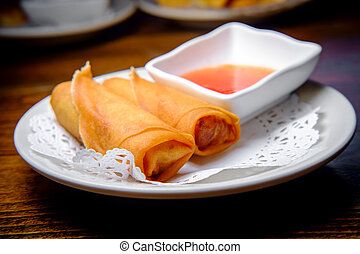 Chinese Fried Spring Rolls