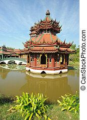 Chinese garden architecture.