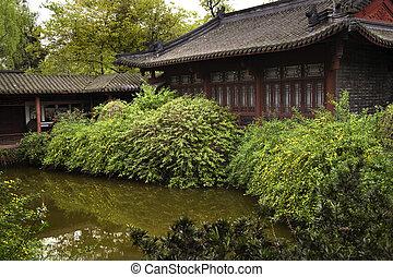 Chinese Garden Sichuan - Chinese Garden Yellow Flowers...