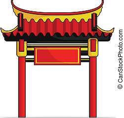 Chinese Gate - A vector image of a chinese gate. This vector...
