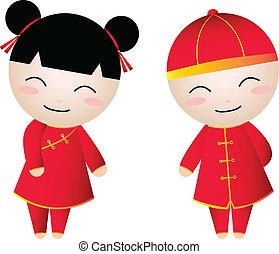 chinese girl-boy - Chinese Girl-Boy Greetings