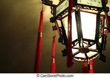 Chinese glass lamp
