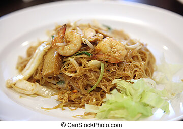 Chinese glass noodles - Chinese fried glass noodles with...