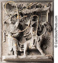 Chinese god stone