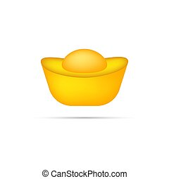 Chinese gold ingot icon. Vector eps10 illustration