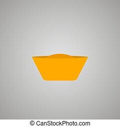 Chinese gold ingot icon. Vector eps10 illustration