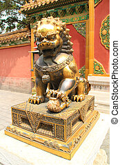 Chinese gold lion.