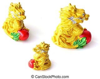 chinese good luck dragon on white background