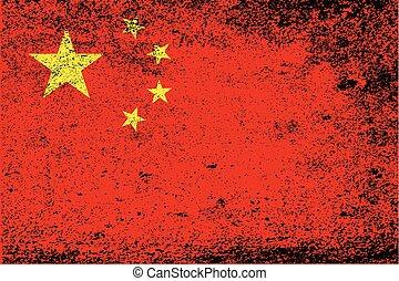 Chinese Grunge Flag