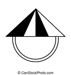 chinese hat culture icon