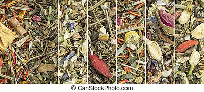 Chinese herbal blend tea collage