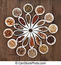 Chinese Herbal Medicine Platter