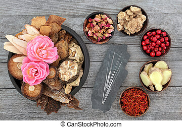Chinese Herbal Medicine with Herbs and Spices