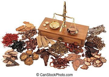 Chinese Herbs - Chinese herb ingredients used in traditional...