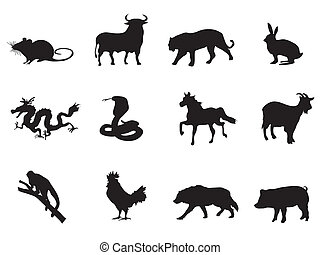 chinese horoscope, iconen
