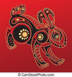 Chinese horoscope. Year of rabbit