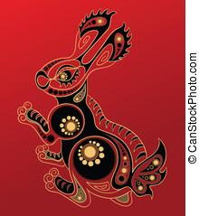 Rabbit - Chinese horoscope. Year of the Rabbit