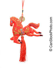 """chinese horse knot on white background, word for """"horse"""", 2014 is year of the horse"""