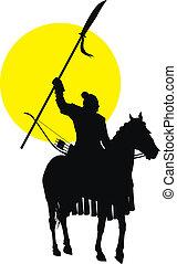 Chinese horseman - Medieval chinese warrior on horseback ...