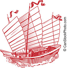 Chinese Junk - An asian style ship