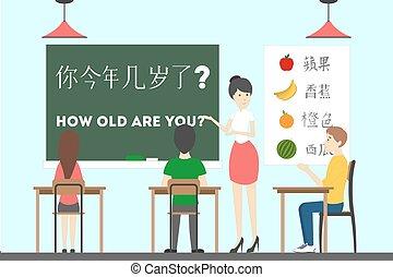 Chinese language course.