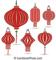 Chinese Lantern Collection set