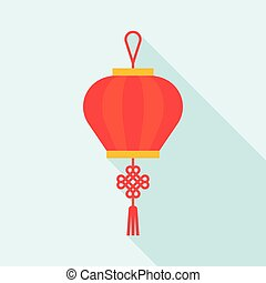 Chinese lantern, flat design icon vector