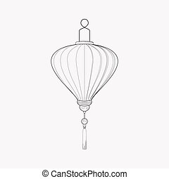 Chinese lantern icon line element. Vector illustration of chinese lantern icon line isolated on clean background for your web mobile app logo design.