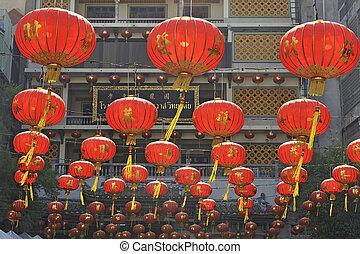 Chinese lanterns, Bangkok, Thailand.