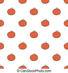 Chinese lanterns. Seamless pattern with lantern. Real outline drawing. Vector illustration.