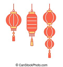 Chinese lanterns set