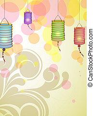 Chinese lanterns - vector illustration of chinese lanterns ...