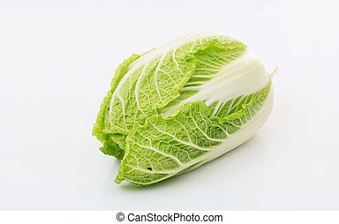 Chinese lettuce isolated on white background
