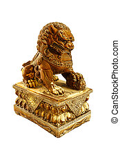 Chinese lion statue - chinese lion statue isolate white ...