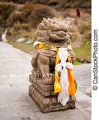 Chinese lion - tourist attraction