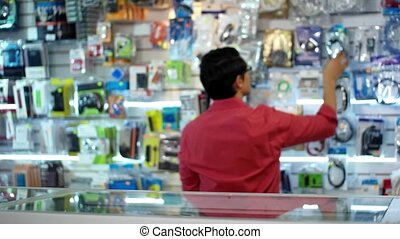 Chinese Man Working As Clerk Sale