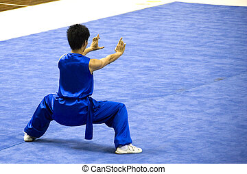 Chinese Martial Arts (Wushu) - Chinese martial arts exponent...