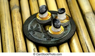 Chinese medicine, burning cones - Chinese medicine, burning...