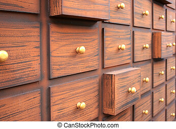 chinese medicine cabinet or drawer