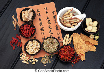 Chinese Medicine - Chinese herbal medicine selection with...