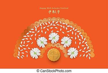Mid Autumn Festival - Chinese mid autumn festival card. ...