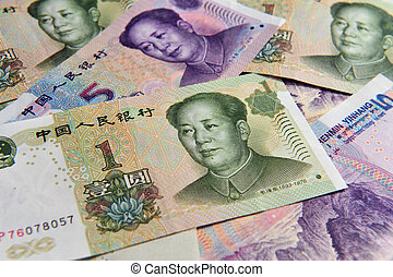 Chinese money - Yuan Bills - China Chinese money - one Yuan...