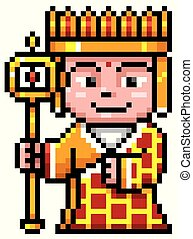 Chinese Monk - Vector illustration of Cartoon Chinese monk -...