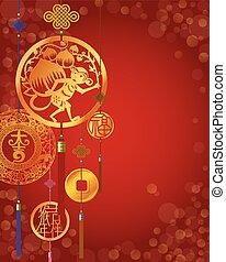 Chinese Monkey New Year background