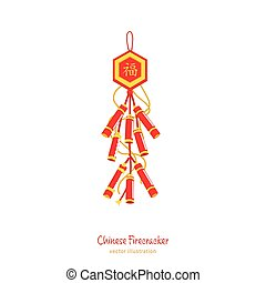 chinese new year-05 - Traditional firecracker. Happiness in ...