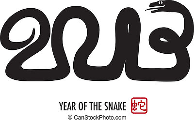 Chinese New Year 2013 Snake Calligraphy - Chinese Lunar New...