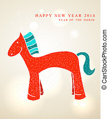 Chinese New Year 2014 Cute cartoon horse