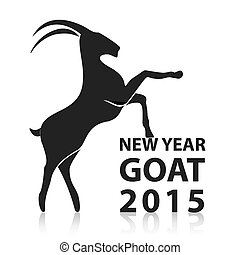 Chinese New Year 2015 of goat. Vector EPS10 - Chinese New...