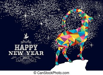 Chinese New year 2015 poster design - Happy new year 2015...